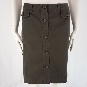 New York & Company   Olive Utility Mini Skirt